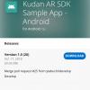 Kudan AR SDK のサンプルアプリを Visual Studio App Center でビルドしました