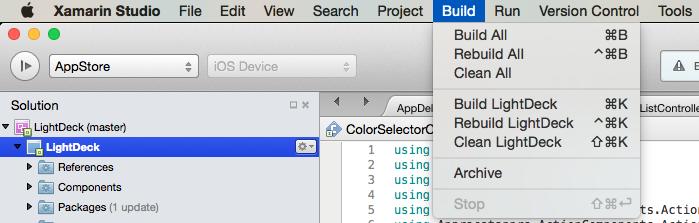 how to publish the latest ios app build